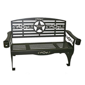 All Seasons Star & Scroll Theme Metal Bench